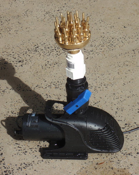 Clear water pond filters and custom water features for Small pond pump filter combo